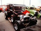Gary's Model T stands out amongst other hot rods at the Street Rod Nationalds