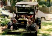 1926 Model T Ford Hot Rod Sedan Delivery-- Notice the side mount tire & independent front coil over shocks