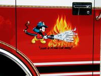 "AIRBRUSHED ""Just a foam call away""  describe this pumper uses foam chemicals, not water!"