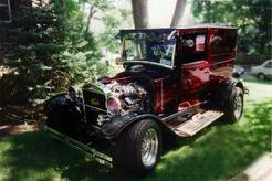1926 Model T Ford Hot Rod Candy Maroon with  twin Supercharger