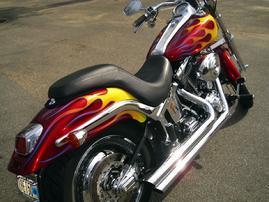 "CANDY APPLE HARLEY ""DEUCE"" & CLASSIC FLAMES"