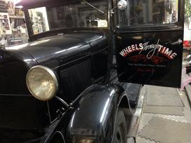 "1929 Model ""A"" Ford with hand painted lettering"