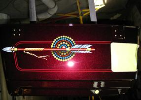 Harley Davidson TRUNK with INDIAN ARROW & BEADS