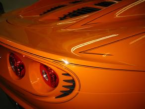 Lotus with double straight line PINSTRIPING