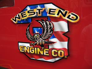 "AIRBRUSHED DETAIL- ""The Attack Owl""  West End Engine 3"