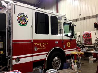 Wantagh Fire Dept. Engine 7 Logo is on the sail panel