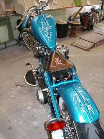 BLUE BOBBER with OLD SCHOOL PINSTRIPING