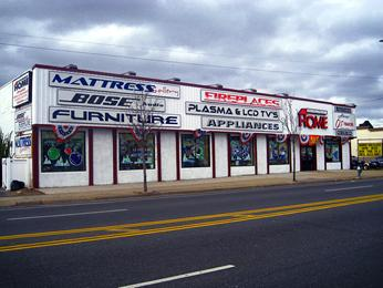 Alluminum store front signs with VINYL LETTERING
