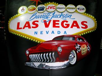 Gary The Local Brush Airbrushed a 1949 Mercury hood at the Las Vegas Barrett Jackson Auction