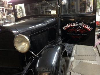 "1929 Ford with hand painted ""PATINA"" LETTERING"