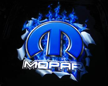 Gary the Local Brush Airbrushed the Mopar Logo on the hood of a 2013 Challenger