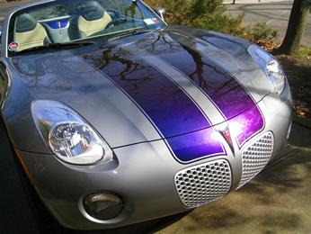 Pontiac Solstice with Painted Stripes that change color.