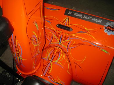 Hand painted Pinstriping on a 2012 Ariens snow blower