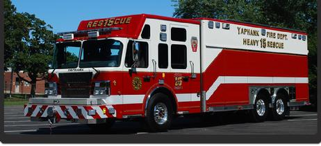 Yaphank Fire Dept., Heavy Rescue 15. The AIRBRUSHED logo is on the side/rear doors