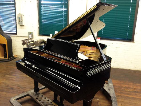 Completed hand pinstriped Steinway Grand Piano