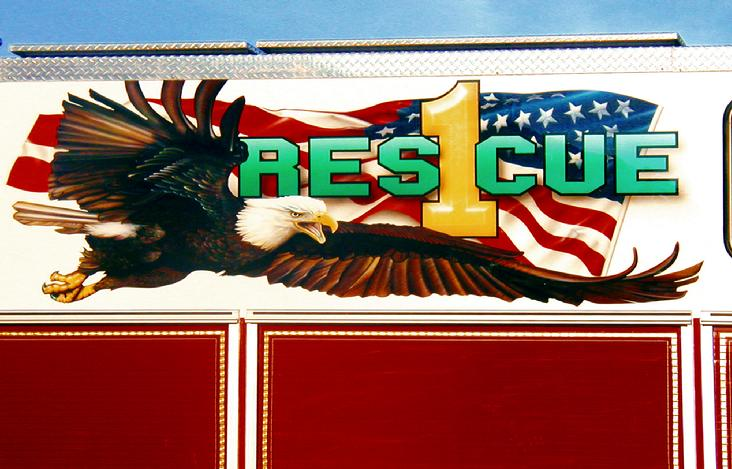Gary AIRBRUSHED the  Coram Rescue Eagle which is actually 8 feet long.